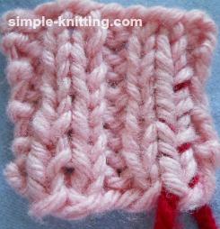weaving in ends ribbing