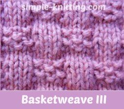 basketweave stitch III