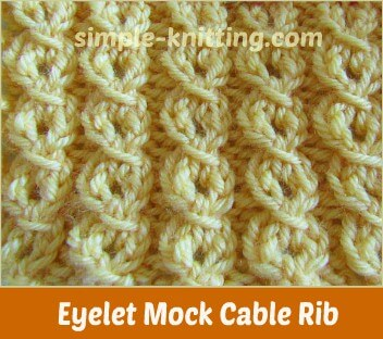 Eyelet Faux Cable Stitch