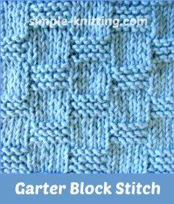 Garter block stitch used on rectangle knit shawl pattern