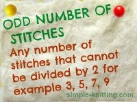 Stitch patterns and understanding multiples