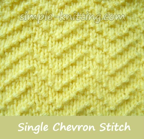 Single Chevron Stitch