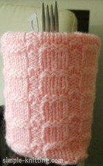 Knitting gauge swatch
