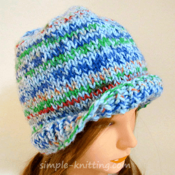 Hat and mittens knitting pattern set