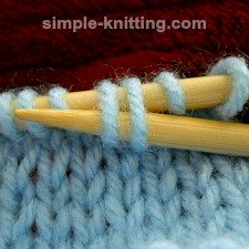 Cable knitting without using a cable needle