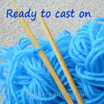 Casting on knitting stitches