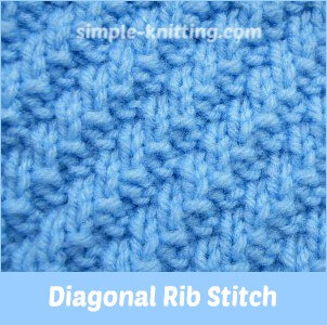Diagonal Rib Stitch Pattern