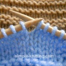 Dropped knit stitch