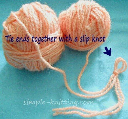 Knitting Tips - Easier Long Tail Cast On