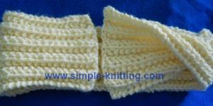 Seeded rib easy scarf/cowl pattern