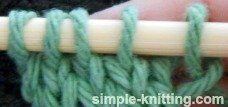 Knit side - what the stitches look like