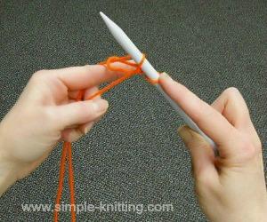 Cast on knitting