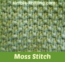 Knitting Double Moss Stitch Instructions : Simple Seed Stitch and Moss Stitch with Pretty Stitch Variations