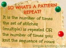 What is a pattern repeat