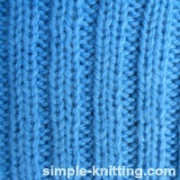 Ribbing stitches