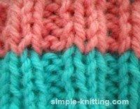 Knitting tips for ribbing clean stripes