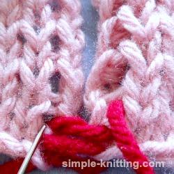Seam knitting