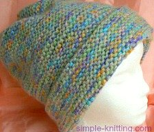 Easy knitting patterns simple knits for all knitters garter stitch hat easiest ever hat pattern dt1010fo