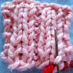 Weave in yarn tails in ribbing