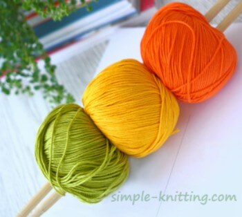 Yarn and needle size to start knitting with