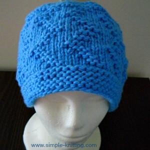 Zigzag Hat Knitting Pattern
